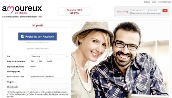 Amoureux Página Gratuita Para Encontrar Pareja Estable